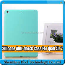 Soft Silicone Rubber Gel Back Case Cover Shell silicone cover for ipad air 2