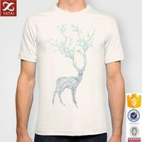 Blue Deer Printed T-Shirt for Man