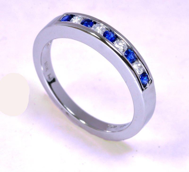 blauer saphir u diamant ring in handarbeit gemacht im. Black Bedroom Furniture Sets. Home Design Ideas