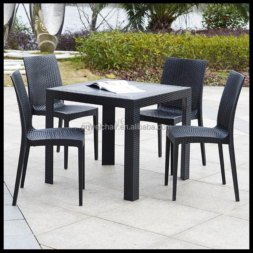 Gartenmöbel/Kunststoff rattan tische und stühle-Set im ...