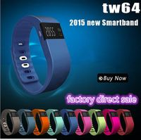 2015 Newest Tw64 Smart Band Sport Bracelet Wristband Fitness Tracker Bluetooth 4.0 For iPhone 6 5 5S Ios Android