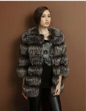 The noble European Handmade Genuine style Raccoon Fur Coat