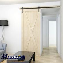 Negro rústico interior deslizante granero de madera maciza armario hardware de la puerta