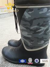 cheap waterproof rubber camo rain boot for men