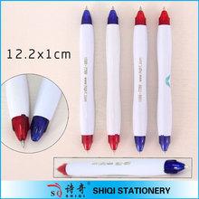 School supplier both side plastic twist ball pen