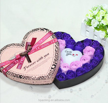 heart shaped paper box chocolate gift box rose flower packdging box