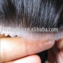High Quality Men Virgin Indian Human Remy Hair Wig Toupee