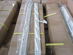6 blades aluminium louver window frames