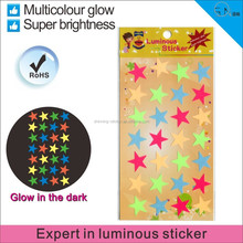 Noctilucent mobile phone Star Stickers,Glow in the dark sticker