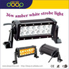 amber and white color with remote control 36 watt led strobe light beacon