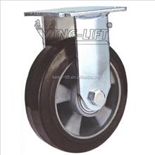 """5""""/6""""/8"""" Aluminum Elastic Rubber Caster Wheel"""