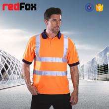 factory price custom new fashion safety reflective man polo t-shirt