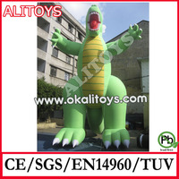 green dinosaur cartoon,inflatable dinosaur model,giant inflatable dinosaur