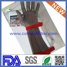 Stainless Steel Metal Mesh Butcher Safety Cut Proof Resistant Gloves