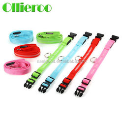 CE Certified Electric Different Size Waterproof Nylon LED Light Dog Collar