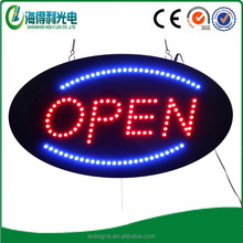 Hidly best selling oval acrylic material Acrylic electronic led sign(HSO0017)