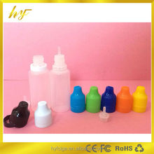 15ml PE e liquidl dropper bottle with tamper evident cap and thin dropper from manufacturer