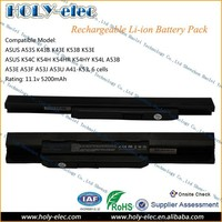New 11.1V Laptop Battery For ASUS X54C X54H X54HR X54HY X54L X54LY For Laptop A41-K53