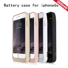 For iPhone 6s Ultra Thin 5800mAh Power Bank Battery Charger Rechargeable Back Case