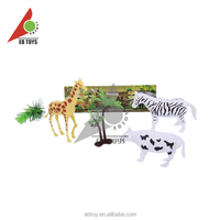 Plastic funny child items kids gift cheap small novelty zoo animal set toy
