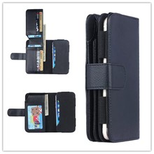 High Quality Universal Smart Mobile Phone Wallet Leather Case For 5 inch