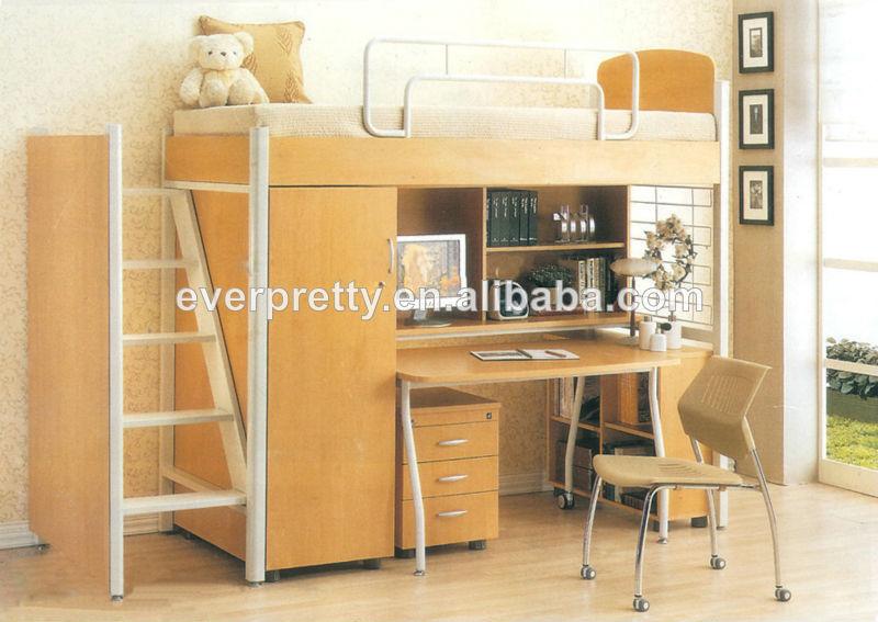 Universidad cama litera con escritorio cama litera de - Camas literas con escritorio ...