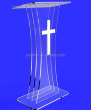 fashion organic glass church pulpit
