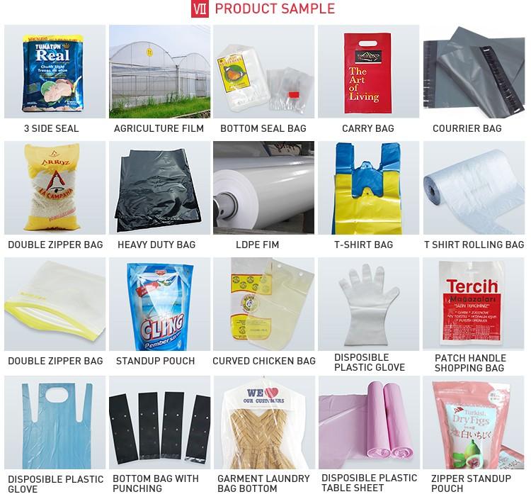 2 couleur flexographique en plastique sac impression prix de la machine