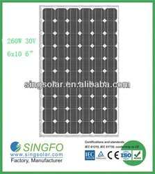 260W Solar Panel With TUV,IEC,CE approved SFP26036 solar energy system price