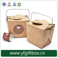 Wholesale custom design eco-friendly disposable cardboard bento lunch box