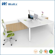 Melamine steel frame fashion white office desk workstation