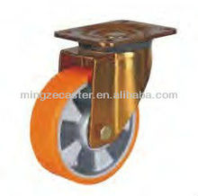 Mingze 810 series type Aluminium Core Polyurethane Swivel Industrial Casters and Wheels