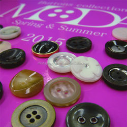 Pretty shell button with original for fashionable clothing made in Japan