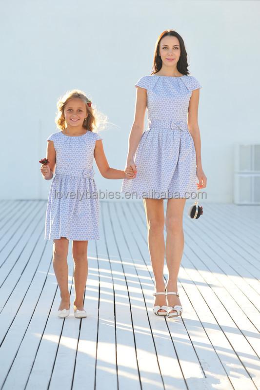 Diseño de encargo de moda madre e hija vestido de ropa de las muchachas al por
