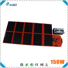 high quality folding 150w solar charger waterproof portable solar panels