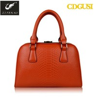 2012 new arrival fashionable and classical lady leather handbag