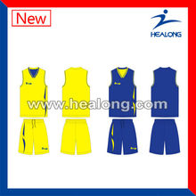 high quality sublimated basketball top and short