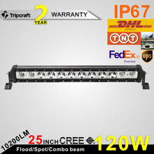 Top grade super bright auto led driving light bar for offroad 120w led driving lights