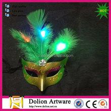 Venetian Feather Mardi Gras Mask