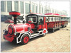 Amusement park train! There are trackless diesel tourist train for adults and kids for sale