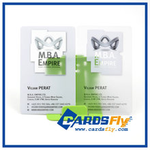 wholesale price high quality plastic card transparent business cards