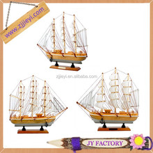 Bán buôn mô hình đồ chơi bằng gỗ đồ trang trí tàu thuyền