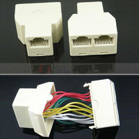 RJ45 8P8C 1-to-2 Female to Female Splitter Coupler RJ45 Connector Adapters