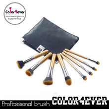 Top quality 8Pieces professional top goat hair makeup brushes flat and fat powder brushes