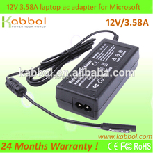 12v ac dc power adapter laptop charger for microsoft surface pro 3 tablet