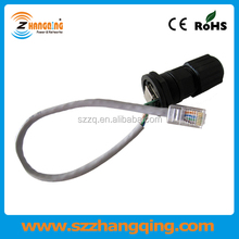 Ethernet cable IP67 waterproof shielded RJ45 to RJ45 connector with PCB Molded ZCWPRJ004