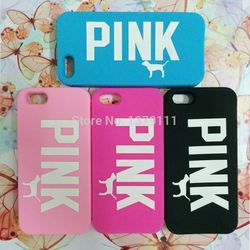 Cartoon animal Victoria/'s Secret PINK Luxe Soft Silicone Love Dog Rubber Case Cover skin For iphone 4 4s/5 5s