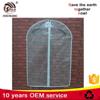 Transparent Clear PP or PVC Plastic Garment Bag with zipper for suit from Ston