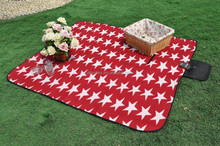 Star printed polar fleece PEVA material camping mat