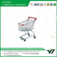 Hot sell good cheap 17 liter zinc with powder Asian type kids shopping cart/ supermarket trolley(YB-A26)